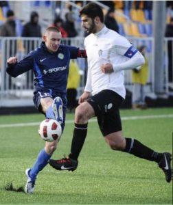 Estonya 1. lig ekiplerinden Tallin Kalev takımında kaptanlığa kadar yükseldi
