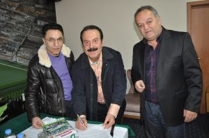 Lütfü Kortağ, Behçet Algan ve başkan Mehmet Geyik