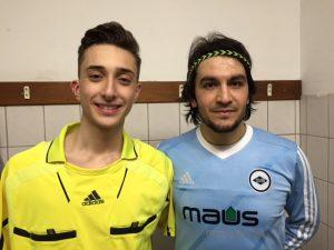 Mehmet Karakaya ve yardımcı hakem Resul Vardar.