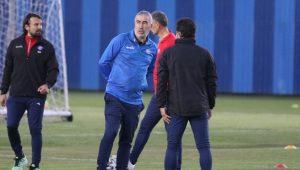 Samet Aybaba, Adana Demirspor'un başında ilk antrenmanına çıktı