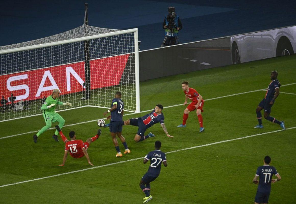 Paris Saint Germain (PSG) VS FC Bayern Munich (FCB) at the Princes Park, in Paris on 13th April 2021.